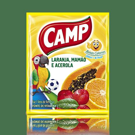 Refresco Camp Laranja, Mamão e Acerola  15g